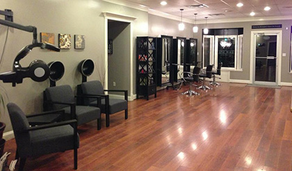 One of Blake and Company's hair salon rooms.