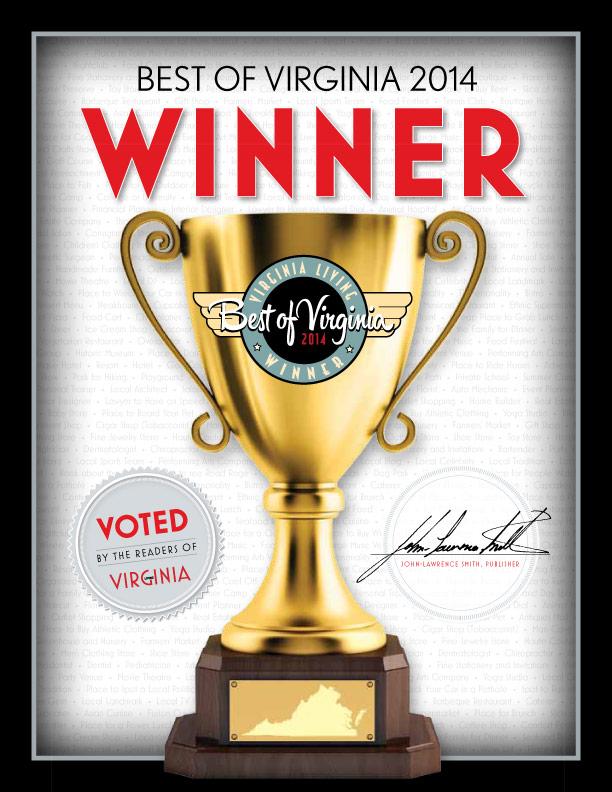Virginia Living has named Blake & Co. Hair Spa its Best of Virginia in 2014!