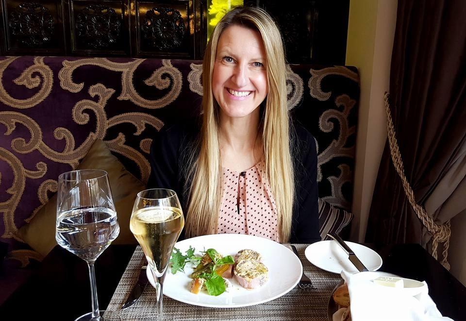 Melanie having dinner in Washington, D.C.